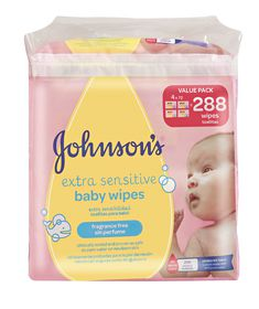 Johnson and Johnson - Extra Sensitive Fragrance Free Wipes - 288's