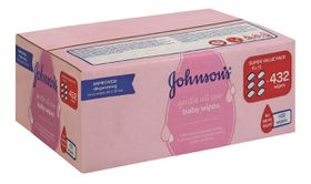 Johnson and Johnson - Gentle All Over Scented Wipes - 432's