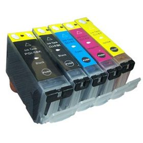 Canon Compatible Ink Combo Pack Black PGI5/5 & Cyan/Magenta/Yellow CLI8/8
