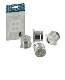 Zedlabz - Alloy Metal Bullet Buttons X4 - Silver (PS4)
