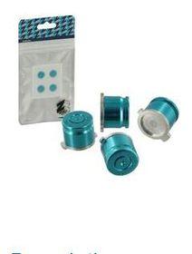 Zedlabz - Alloy Metal Bullet Buttons X4 - Blue (PS4)