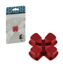 Zedlabz Alloy Metal Directional D Pad Arrow Button - Red (PS4)