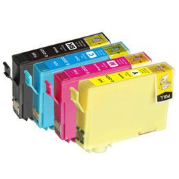 Epson Compatible Ink Combo Pack Black/Cyan/Magenta/Yellow T1281, T1282, T1283, T1284