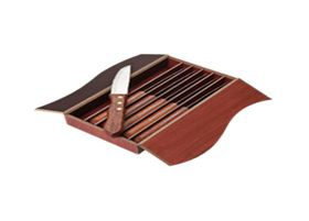 Eco - 6 Piece Wood Handled Steak Knife Set