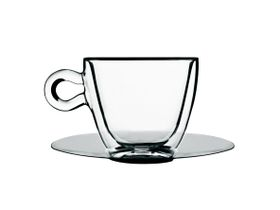 uigi Bormioli - Thermic Tea Or Coffee Cup With Saucer - 2 Pack - 300ml