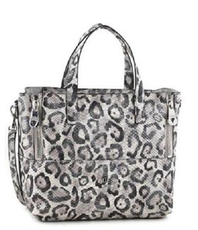 Guess Doheny Satchel Bag in Leopard