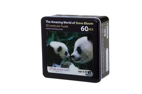 The Purple Cow Mother and Baby Panda 3D Puzzle