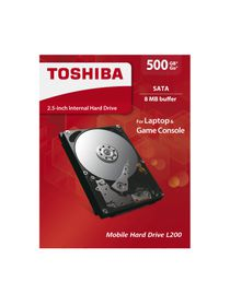 "Toshiba 500GB 2.5"" L200 Mobile Hard Drive"