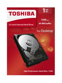 "Toshiba 1TB 3.5"" P300 Desktop Internal Hard Drive"