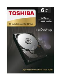 "Toshiba 6TB 3.5"" X300 Desktop Internal Hard Drive"