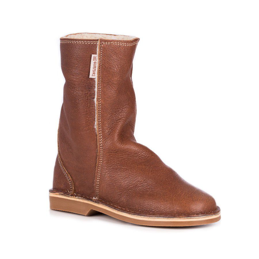 Gurmuki Kudu Leather UGG Boots - Tan