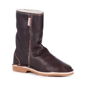 Gurmuki Kudu Leather UGG Boots - Choclate
