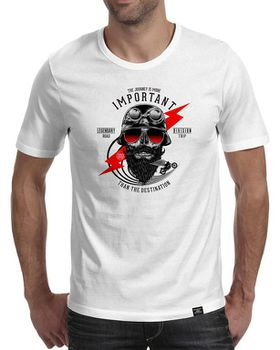 StoneDeff- The Journey is More Important Than the Destination Men's Short Sleeve T-Shirt - White