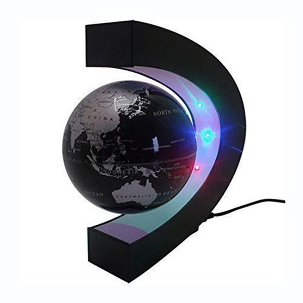 C shape magnetic levitation floating globe world map with led light gumiabroncs