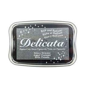 Tsukineko Delicata Ink Pad - Silvery Shimmer