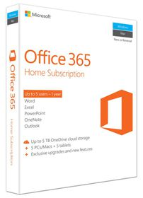 Microsoft Office 365 - Home 1 Year Subscription