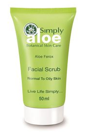 Simply Aloe Facial Scrub - 50ml