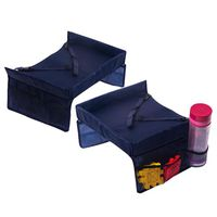 Kids Travel Snack and Play Tray Set of 2 - Navy Blue