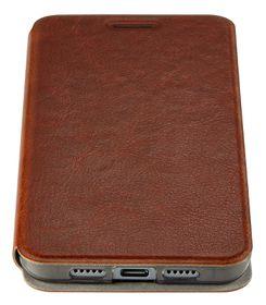 YU Brown Leather Folio Stand Case, for Mi5