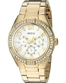 GUESS Women's Quartz Stainless Steel Automatic Watch, Color:Gold-Toned U0729L2 (Parallel Import)
