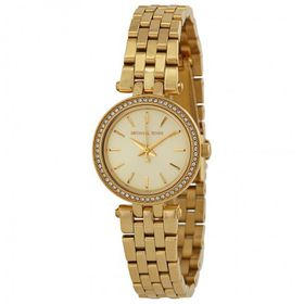 MICHAEL KORS Mini Darci Champagne Dial Gold-tone Ladies Watch MK3295 (Parallel Import)