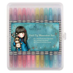 Docrafts Gojuss Dual-Tip Watercolour Pens - Brights