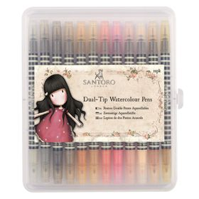 Docrafts Gojuss Dual-Tip Watercolour Pens - Neutrals