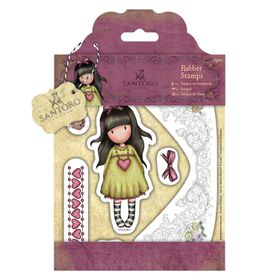Docrafts Gorjuss Rubber Stamp - Heartfelt