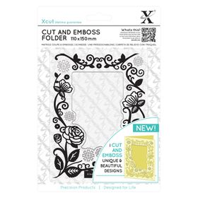 Xcut Cut & Emboss Folder - Floral Frame