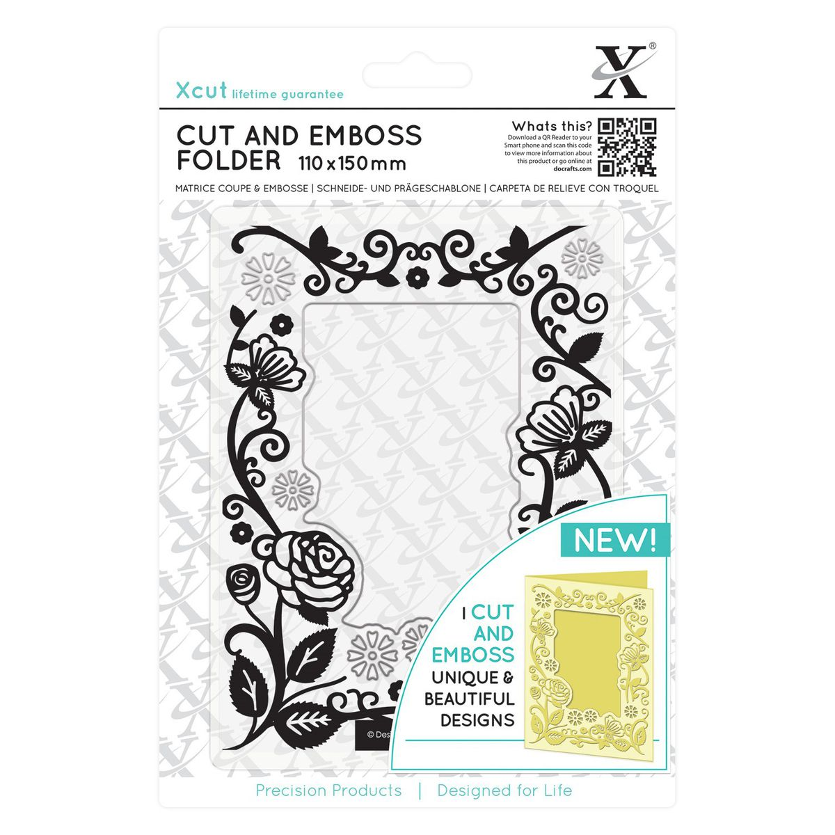 Docrafts Xcut Cut & Emboss Folder - Floral Frame | Buy Online in ...