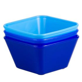Lumoss - Mini Square Bowl - 9 x 9cm - Blue - Set Of 3