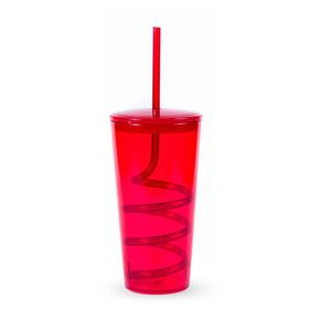 Lumoss - Tornado Tumbler With Straw - Red