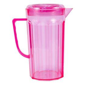 Lumoss - Plastic Jug With Lid - Neon Pink