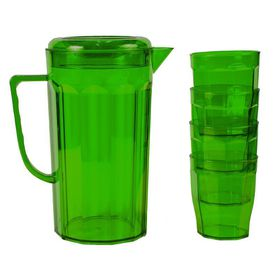 Lumoss - Plastic Jug With 4 Tumblers - Emerald Green