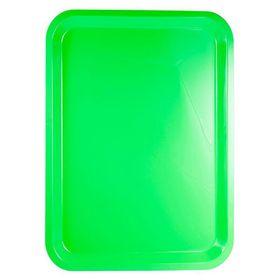 Lumoss - Plastic Rectangle Tray - 42cm x 30cm - Neon Green