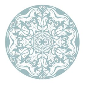 Lumoss - Coaster Round - Blue Lace