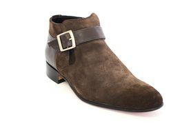 Barker Men's Suede Boots - Choc