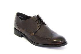 John Drake Men's  Moccasin Lace Up Shoe  - Dk Brown