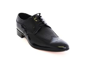 Barker Men's Formal Lace Up BA17504 Shoe - Black & Black
