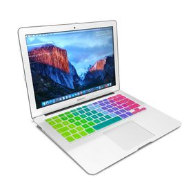 "Tuff-Luv Silicone Keyboard Cover for the Apple Macbook 13 Air/Pro and 15"" - Rainbow"