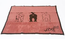 Wagworld - Extra-Large Plush Blankie - Pink & Chocolate