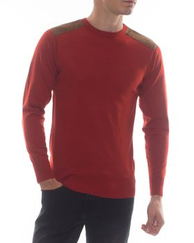 Ballantyne Men's Patchy Jay Crew Neck Jersey - Rust