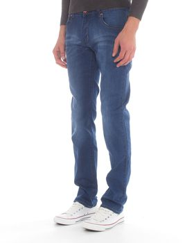 Top Warrior Men's T'01 Straight-Leg Jeans - Blue