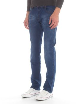 Top Warrior Men's T'02 Straight-Leg Jeans - Blue