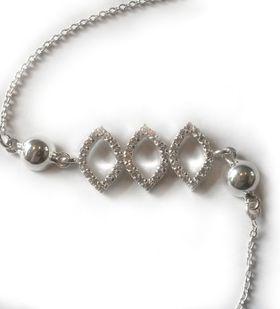 Miss Jewels- 0.24ct Clear Cubic Zirconia Bracelet in 925 Sterling Silver