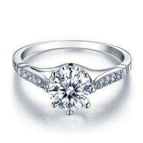 Miss Jewels- 2.12ctw Clear Cubic Zirconia Dress Ring in 925 Sterling Silver