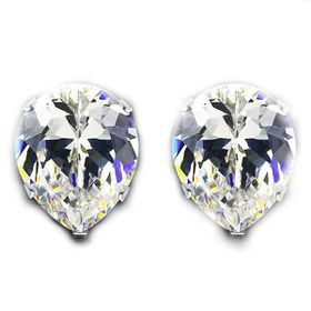 Miss Jewels- 4.92ctw Pear Shaped Cubic Zirconia Stainless Steel Studs