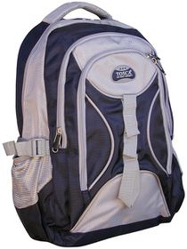 Tosca 3 Zip Fashion Backpack - Navy And Grey