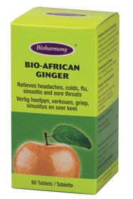 Bioharmony Bio-African Ginger Tabs - 60's
