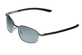 "Lentes & Marcos ""Canillas"" Polarised Silver & Black Rectangle Sunglasses"